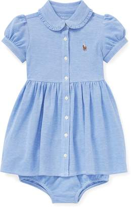 Ralph Lauren Knit Mesh Oxford Dress