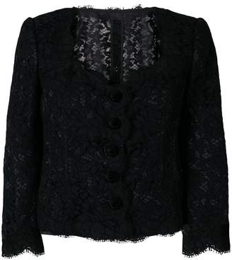 Dolce & Gabbana lace fitted jacket
