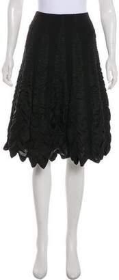 Tracy Reese Knee-Length Wool Skirt
