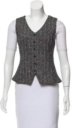 St. John Knit Button-Up Vest
