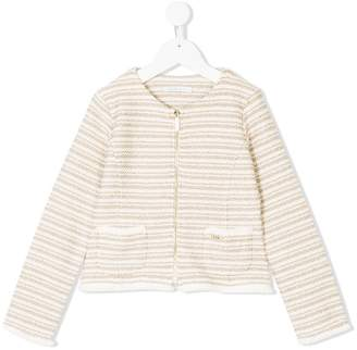 Liu Jo Kids striped pattern jacket