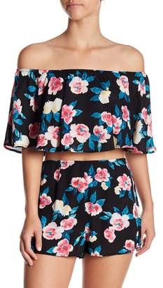 Show Me Your Mumu Heidi Ruffle Crop Top