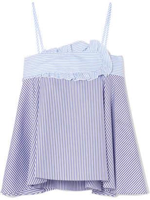 Carven Striped Cotton-poplin Camisole