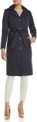 Anne Klein Long Belted Trench Coat