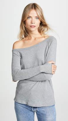 Enza Costa Long Sleeve Off Shoulder Top
