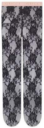 Gucci Floral lace tights