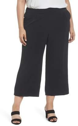 Sejour Crop Wide Leg Pants (Plus Size)