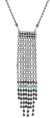 Steve Madden Multi-Colored Crystal Fringe Chain Necklace