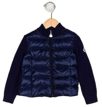 Moncler Boys' Down Zip-Up Jacket