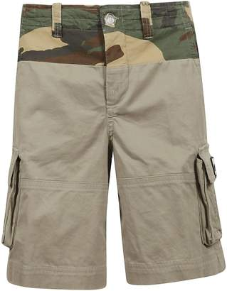 Off-White Off White Camouflage Print Cargo Shorts