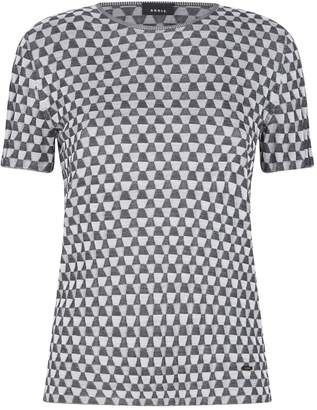 Akris Geometric Print Silk Sweater
