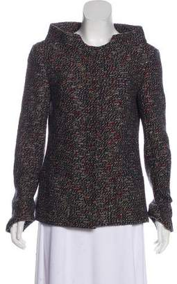 Chanel Tweed Stand Collar Jacket
