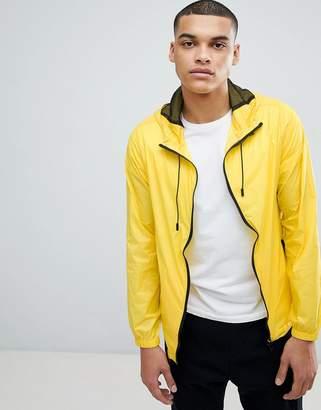 Another Influence Neon Yellow Contrast Zip Jacket
