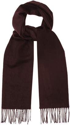 Reiss ASHTON LAMBSWOOL CASHMERE BLEND SCARF Bordeaux