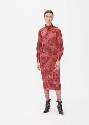 Ganni Satin Shirt Dress