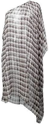 Thomas Wylde printed one-shoulder tunic