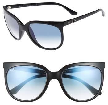 Women's Ray-Ban Retro Cat Eye Sunglasses - Black/ Black