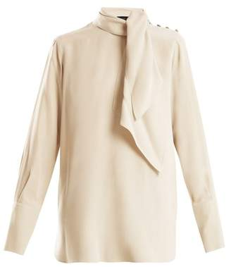 Joseph - Geoff Tie Neck Silk Blouse - Womens - Cream