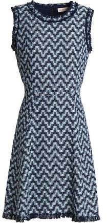 Frayed Cotton-Jacquard Dress