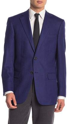 Hart Schaffner Marx Dark Blue Two Button Notch Lapel Classic Fit Blazer