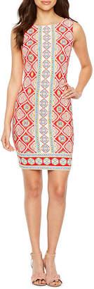 R & K Originals Sleeveless Pattern Shift Dress