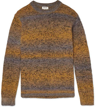 Acne Studios Kamal Space-Dyed Striped Melange Knitted Sweater - Men - Yellow
