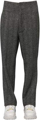 Maison Margiela Herringbone Loose Wool Trousers