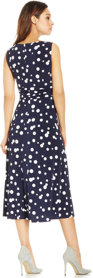 Jessica Howard Polka-Dot Midi Dress 2