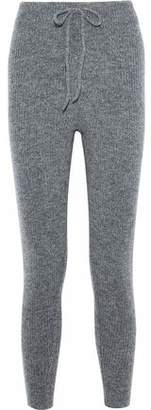 Love Stories Casey Melange Ribbed-knit Track Pants