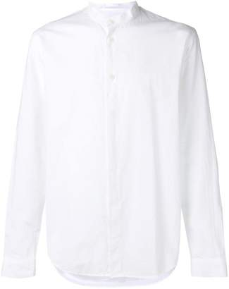 Folk mandarin collar shirt