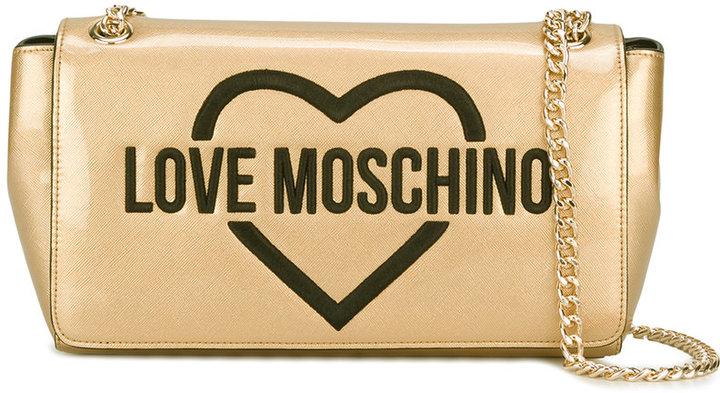 Love MoschinoLove Moschino embroidered logo shoulder bag