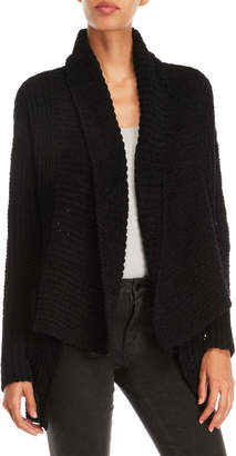 POL Wide Collar Chenille Open Cardigan