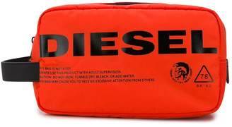 Diesel logo print wash bag