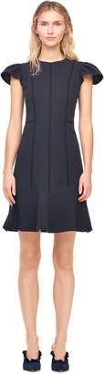 Rebecca Taylor Stretch Texture Cap Sleeve Dress