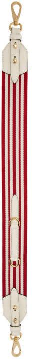 Prada Red Striped Bag Strap