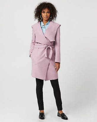 Le Château Cashmere-Like Hooded Wrap Coat