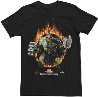 Licensed Character Men's Marvel The Hulk Ring Of Fire Graphic Tee