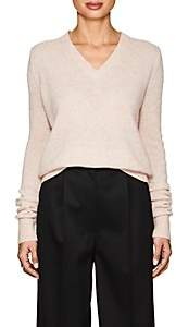 The Row Women's Tinco Fine-Gauge Cashmere-Silk V-Neck Sweater - Pink