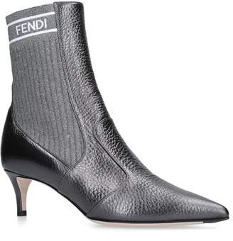 Fendi Logo Sock Boots 65
