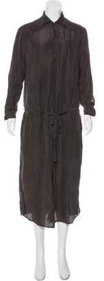 AllSaints Midi Long Sleeve Shirtdress