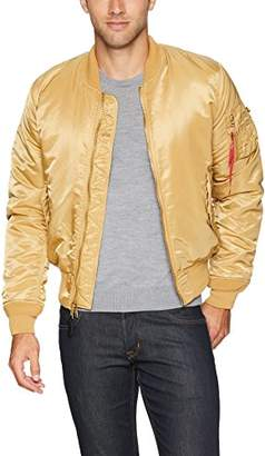 Alpha Industries Men's MA-1 Slim FIT MID Length Flight Jacket