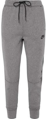 Nike Tech Fleece Cotton-blend Jersey Track Pants - Gray