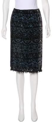 Ermanno Scervino Velvet Knee-Length Skirt Black Velvet Knee-Length Skirt