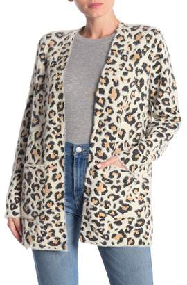 Cyrus Open Front Leopard Print Cardigan