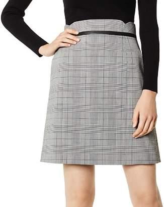 Karen Millen Glen Plaid A-Line Skirt