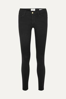 Frame Le Skinny De Jeanne Mid-rise Jeans - Black
