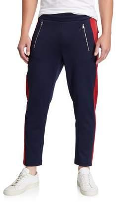 Moncler Men's Contrast Side-Stripe Ankle Sweatpants