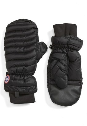 Women's Canada Goose Lightweight Quilted Mittens $125 thestylecure.com