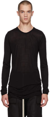 Rick Owens Black Long Sleeve Basic T-Shirt