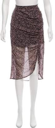 Rebecca Minkoff Printed Midi Skirt